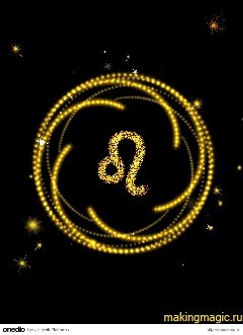 лев знак зодиака гифка