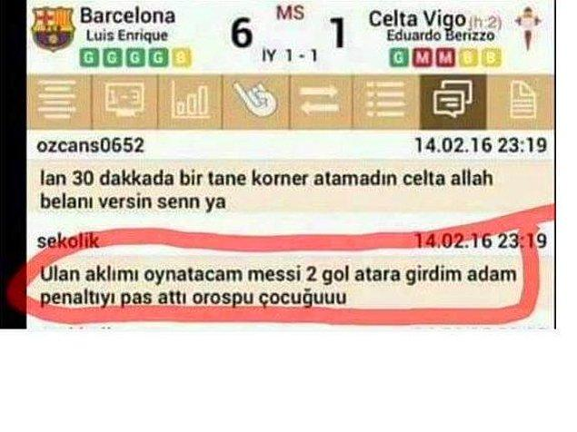 5. Ah Messi naptın ya? 😅