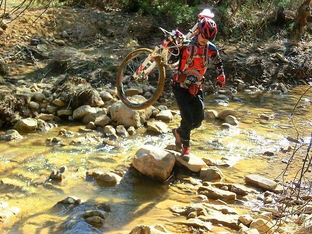 3. Doğada pedal çevirmek size mücadele azmi kazandırır.