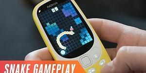 Efsane Telefon Nokia 3310'un Yeni Jenerasyonunun Yılan Oynanış Videosu