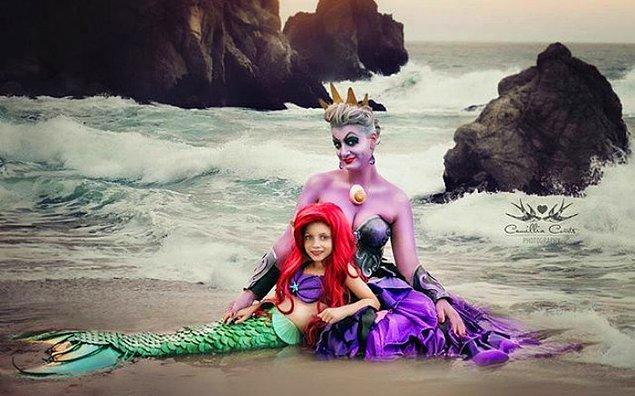7. Fotoğrafçı bir anne, aktris ruhlu minik bir kız! 👭