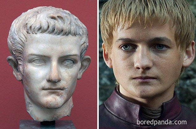 12. Roma İmparatoru Caligula ve Jack Gleeson.