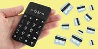 Cep Telefonu Oldu Size Cüzdan Telefonu! Kredi Kartı Boyutunda Cep Telefonu Çıktı!