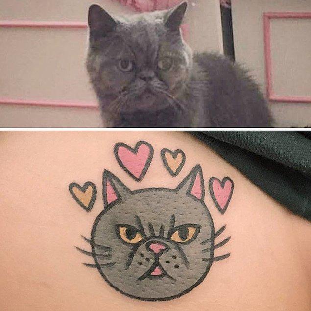 8. Jiran adlı dövme sanatçısı hayvanları komik birer karikatür gibi çiziyor.