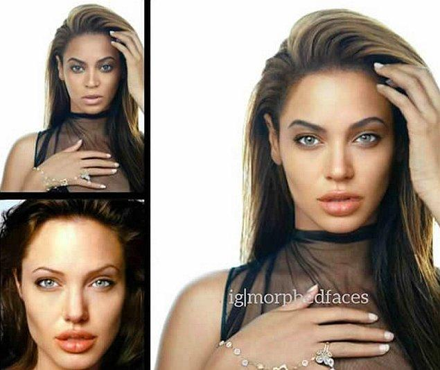 7. Beyonce ve Angelina Jolie