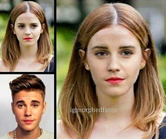 10. Emma Watson ve Justin Bieber