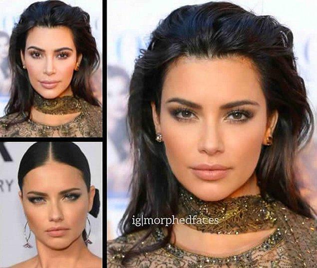 12. Kim Kardashian ve Adriana Lima