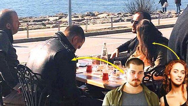 2. Çağatay Ulusoy, adının aşk dedikodularına karıştığı Duygu Sarışın'la ilk kez kez birlikte objektiflere yakalandı.