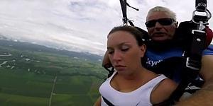 Paraşütle Atladıktan Sonra Havada Ayılıp Bayılan Kadın