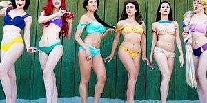 Masal Diyarından Kızgın Kumsallara Sihirli Disney Prensesleri Temalı Bikiniler!
