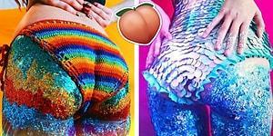 Sonunda Sıra Buna da Geldi! Müzik Festivalleri ve Plajlar İçin Simli Popo Makyajı Trendi