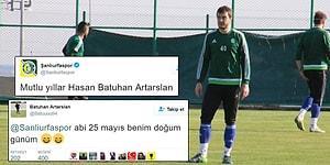 Futbolcusu Batuhan Artarslan'ın Doğum Gününü 1 Ay Önceden Kutlayan Şanlıurfaspor