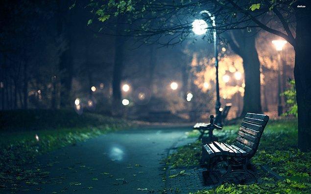 Sessizliğin kuş cıvıltılarıyla parçalandığı Yıldız Parkı'nda O'nu bekliyordum.
