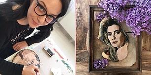 Türk Ünlüleri Ağaç Kütüklerine Resmettiği Birbirinden Hoş Çalışmalarıyla: Seçil Çınardalı