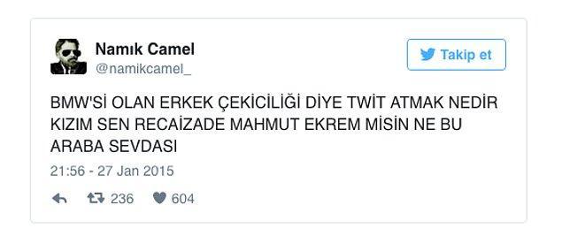 13. Attığı Tweetlerle Edebiyata Goygoy Kanalı Açan Namık Camel'dan 15 Paylaşım