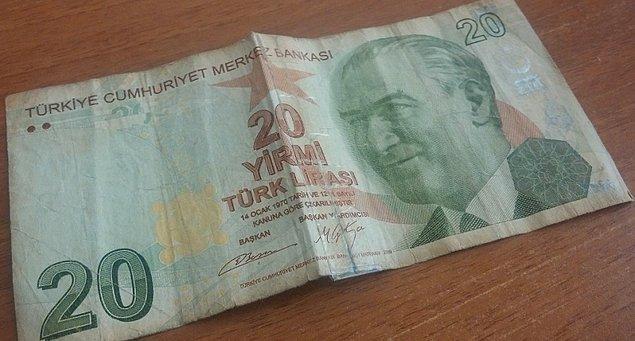 6. Bir paranın yıpranmışlığından, onun ne kadar çok kişi tarafından kullanıldığını anlayabilirsiniz.