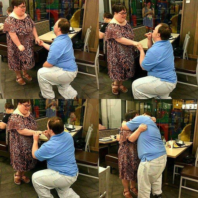 11. Gördüğüm en sempatik evlenme teklifi.