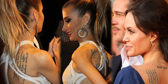 1. İrem Derici, bundan yaklaşık 8 yıl önce Angelina Jolie'nin sıkı hayranlarından biriymiş, öyle ki Jolie'nin dövmesinin aynını sırtına kazıtmaktan bir an bile olsa tereddüt etmemiş.