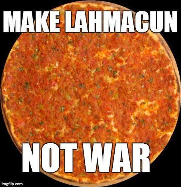1. Imagine all the people eat lahmacun