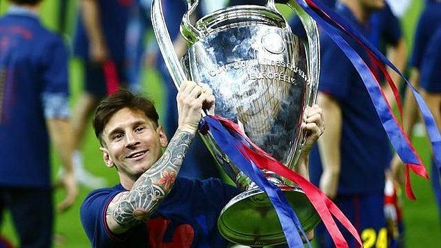 6. Messi, 4 kez Şampiyonlar Ligi şampiyonluğu yaşadı fakat Real Madridli Gento'nun 6 kez kazandığı bu kupayı 4 kez alarak henüz bu rekoru da kıramadı.