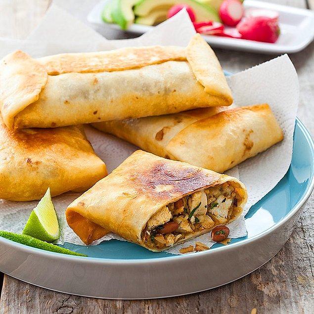 8. Burrito dürümlerinin kızarmış hali...