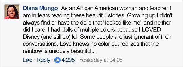 """""""Bir Afro-Amerikan kadın ve öğretmen olarak bu öykülerden gözlerim doluyor..."""
