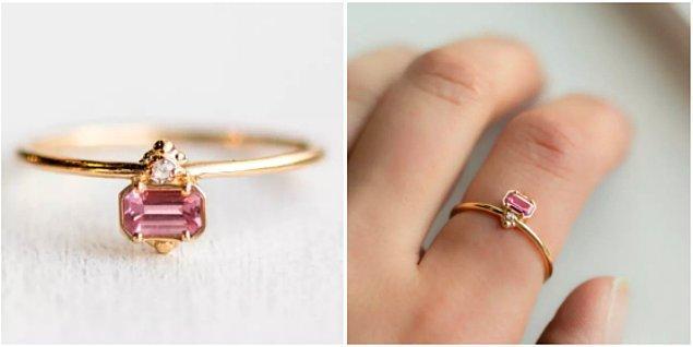 Elmasla taçlandırılmış, tam bir prenses yüzüğü 😇