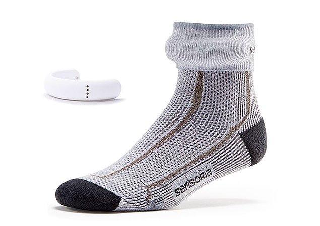 16. Anında aktivitenizle ilgili yorumlar alabileceğiniz akıllı çorap.