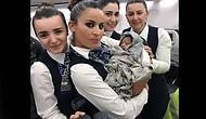 Tebrikler! 13 Bin Metre Yüksekte Genç Annenin Doğumunu Gerçekleştiren THY Kabin Ekibi