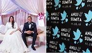 Twitter'dan Tanışıp Evlenen Çiftin Twitter Konseptli Tatlış Düğünü