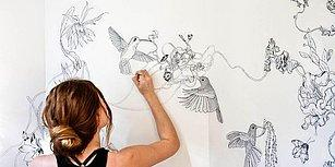 Evinin Minik Banyosunu Doğa Temalı Bir Sanat Eseri Haline Getiren Sanatçı Roza Khamitova!