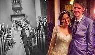 Profesyonel Fotoğrafçı Olmadan Çekilen Düğün Fotoğraflarının Neye Benzediğini Gösteren Çift