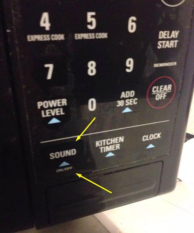 10. Sesi kısılabilen mikrodalga fırın. Tam ofislik!