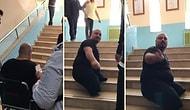'Evet, Hayır' Diye Tartışırken Unutulan İnsanlık: Engelli Adam Merdivenleri Kendi Çıkmak Zorunda Kaldı