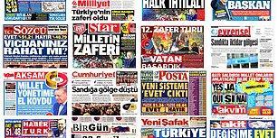 Ve Türkiye Anayasa Değişikliğini Oyladı: Peki Referandum Sonucu Gazete Manşetlerine Nasıl Yansıdı?