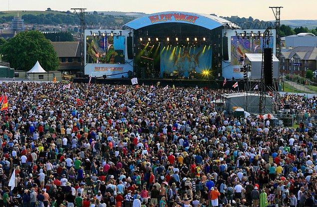 3. Şu hava olayları da olmasa muhteşem bir festival aslında: Isle of Wight Festival / İngiltere