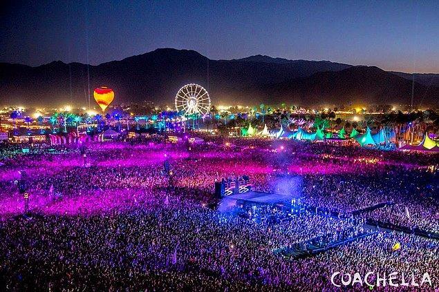 1. Herkesin hayallerini süslüyor: Coachella / Amerika