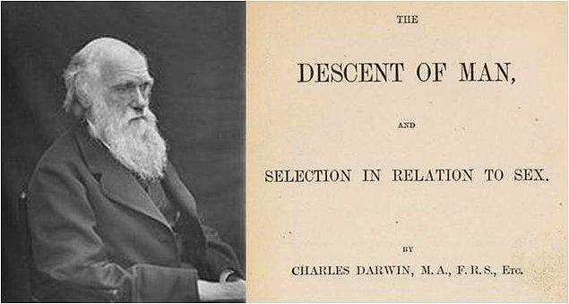 """Darwin'in 1871 yılında kaleme aldığı """"İnsanın Türeyişi"""" isimli kitabı incelediğimizde şu cümleleri sarf ettiğini görürüz:"""