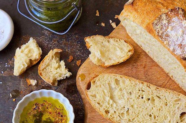 1. Ekmeği dilimleyerek tüketin.