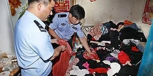 Çin'de 10 Yıldır İç Çamaşırı Çalan Adamın Evini Polis Kamyonetle Boşaltmak Zorunda Kaldı