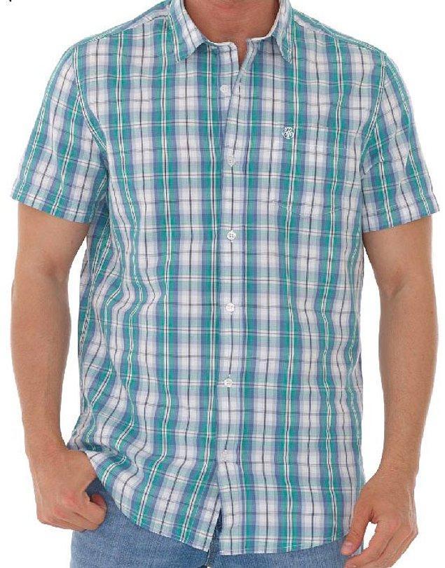 2. Kısa kollu kareli gömlek