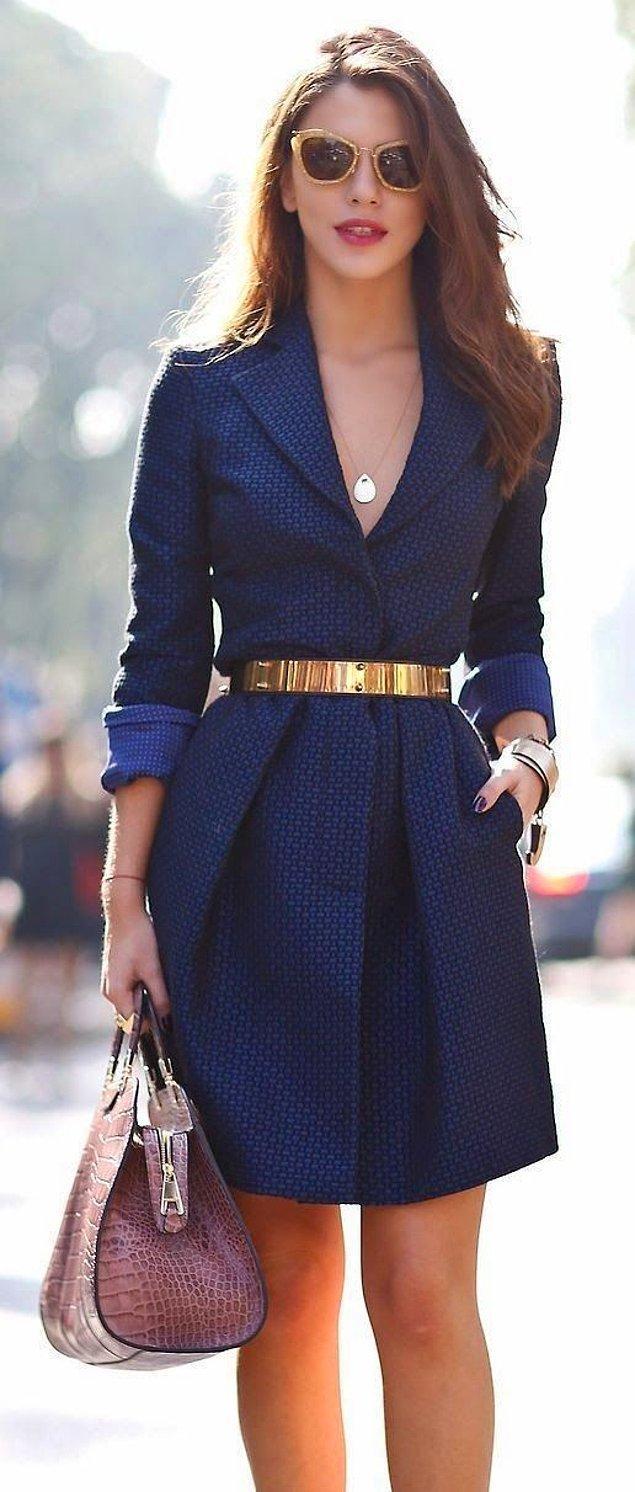 8. İş yemekleri için size ciddi bir hava katacak elbise