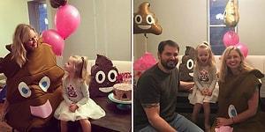 Prensesler Gibi Bir Doğum Günü Partisi Yerine 'Kaka Temalı' Bir Parti Tercih Eden 3 Yaşındaki Kız