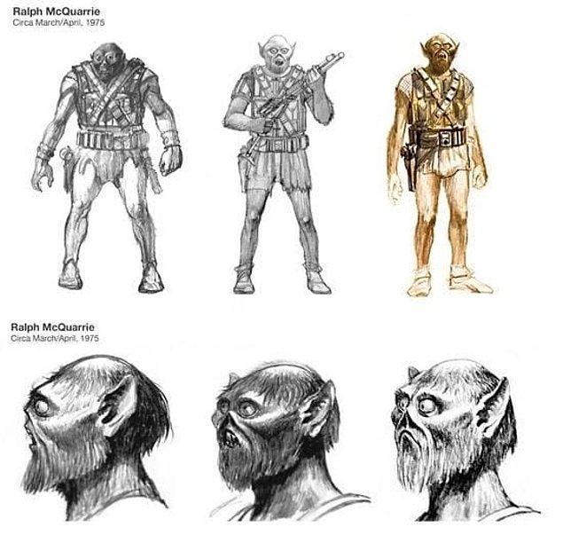 4. 20th Century Fox yapımcıları Chewbacca'nın şort giymesini istiyordu.