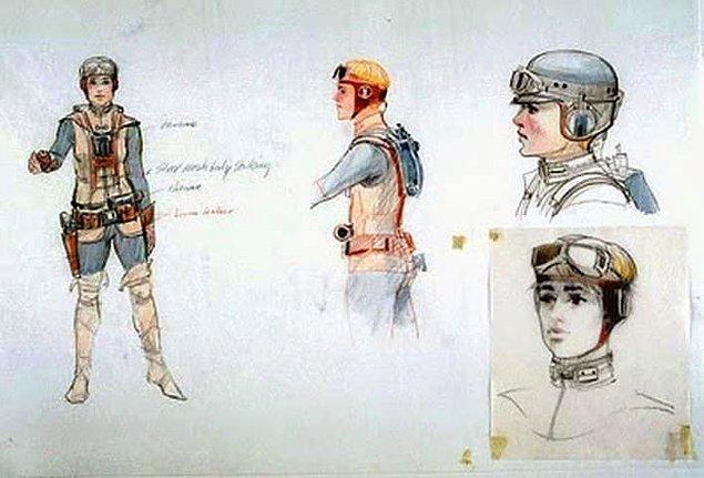 """25. """"Güç Uyanıyor""""da Rey'in kıyafetleri, Luke Skywalker'ın eski çizimlerinden esinlenme."""