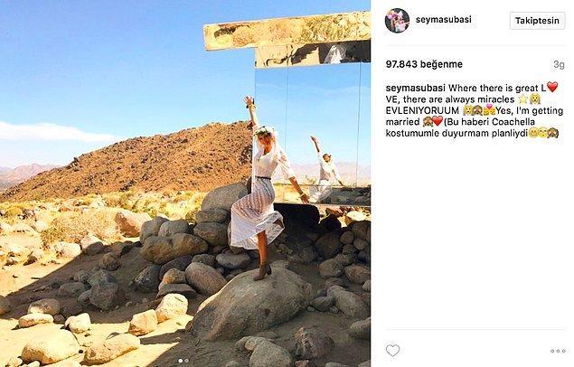 9. Şeyma Subaşı, Instagram hesabından paylaştığı bir fotoğrafla Acun Ilıcalı ile evleneceği haberini duyurdu!