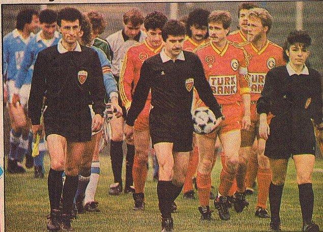 Yönettiği ilk Süper Lig (o zamanlar 1. lig) maçı Galatasaray - Sarıyer maçı