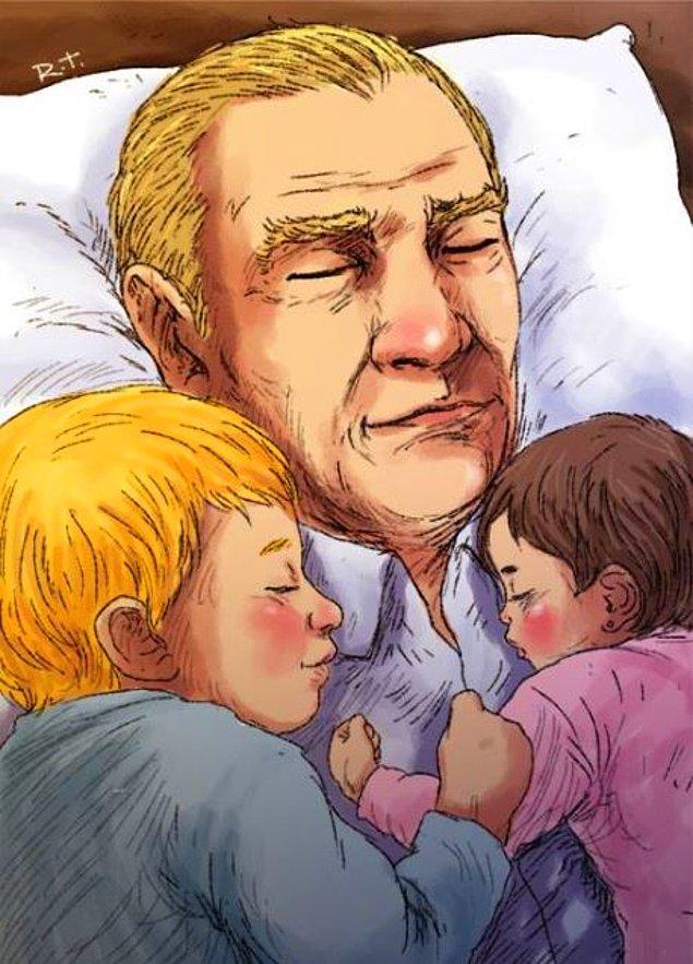 3. Sanatçı, geçtiğimiz 10 Kasım'da da Atatürk'ü çocuklarla birlikte tasvir etmişti.
