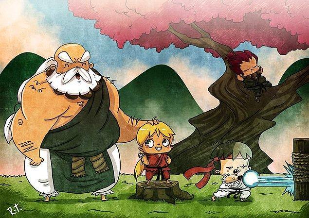 """5. Rıza Türker'in ünlü çizgi karakterleri çocukluk halleriyle tasvir ettiği """"When We Were Kids"""" (Biz Çocukken) serisi son çalışmalarının da esin kaynağı."""