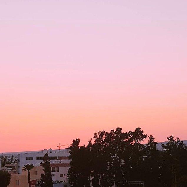 4. Pembe tonlarında gün batımı!